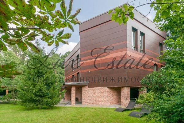 современный загородный дом площадью 338,3 кв.м., в коттеджном поселке лесная поляна, ...