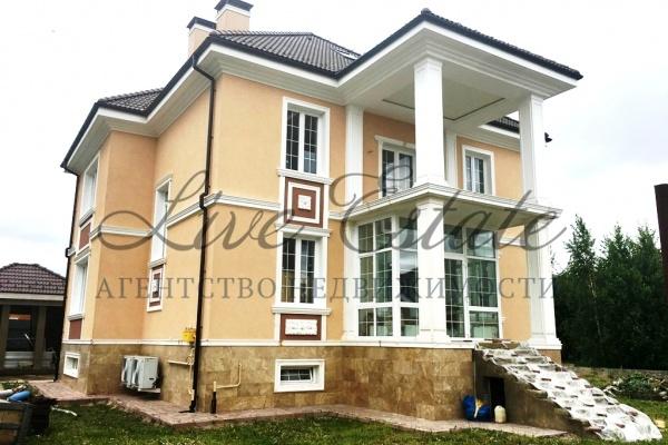 новый дом площадью 500 м2 готовый к чистовой отделке в жилом охраняемом поселке. в д ...